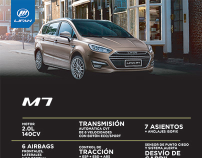 Brochure/One Page Lifan M7 - Argentina