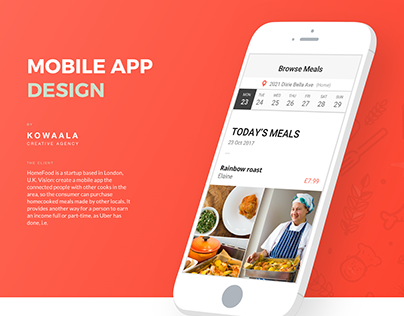 HomeFood, Mobile App