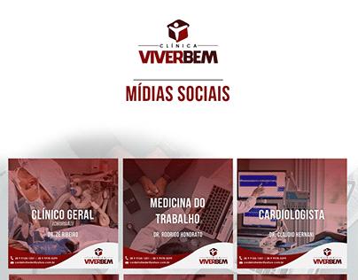 Clínica VIVERBEM - Mídias Sociais