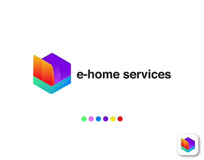e-home services logo for ecommerce site