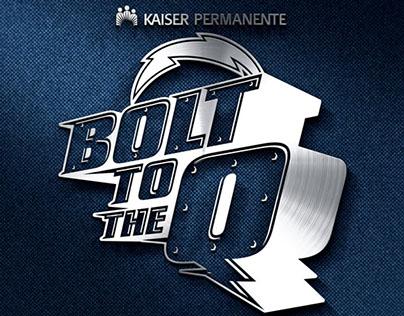 Bolt to the Q event logo