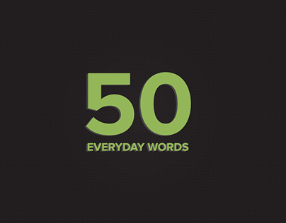 50 Everyday words project