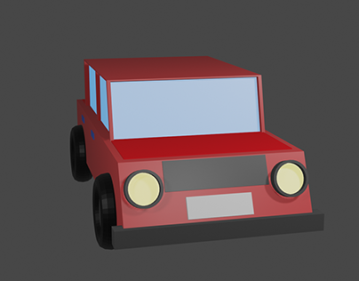 3D Blender Graphics - Small Red Car