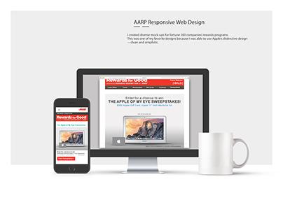 Apple for AARP // Desktop and Mobile Optimization