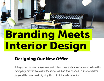 Branding Meets Interior Design