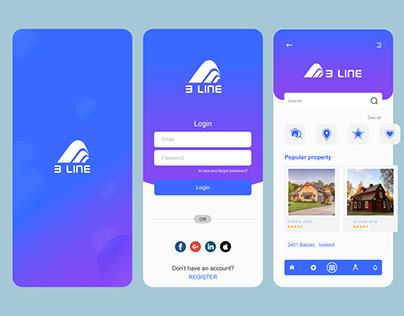 3 LINE Real Estate App UI Design