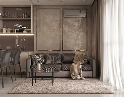 Design of a 1-room apartment in Kiev