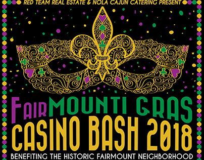Mardi Gras Casino Bash Poster & Marketing Materials