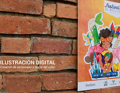 Diseño de afiche para Festival de macetas 2017 - Cali
