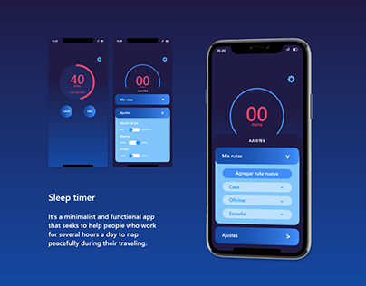 Sleep Timer | UX Design project