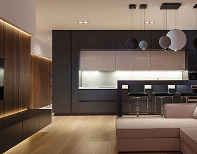 The moonway apartment by SVOYA studio