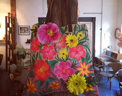 EAH! painted flower bags SS 2014