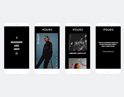 Website Design / Graphic Design - PlusFours Music