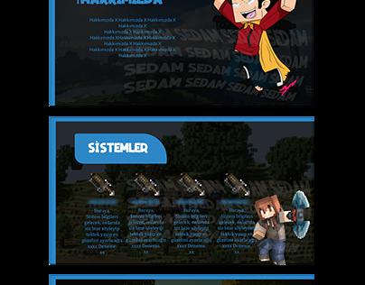 """Blue Theme"" Minecraft Konu Tasarımı"