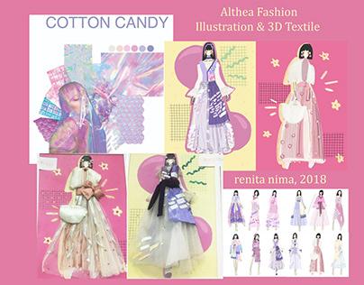 """Cotton Candy"" Fashion Look Illustration 2018"