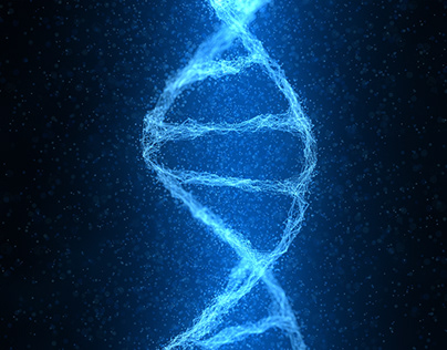 4K Double Helix DNA Strand of Particles Concept