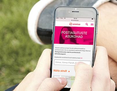 Omniva mobile web UX analyst, designer & team lead