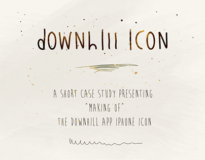 Making of the Downhill Icon