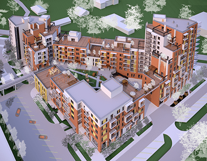 PUBLIC RESIDENTIAL COMPLEX in Cherepovets
