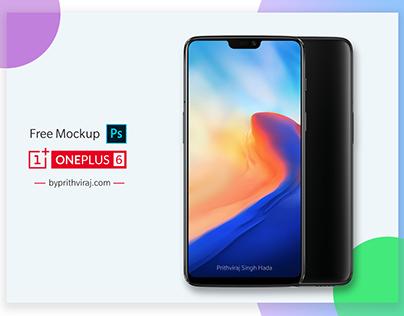 Free OnePlus 6 PSD mockup