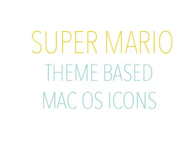Super Mario Mac OS Icons