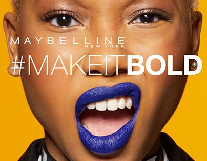 #MakeItBold Maybelline New York