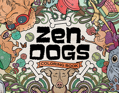 Zen Dogs Coloring Book