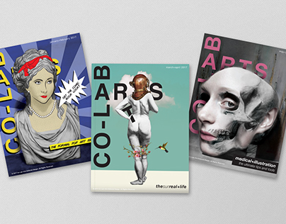 Co-Lab Arts magazine cover series