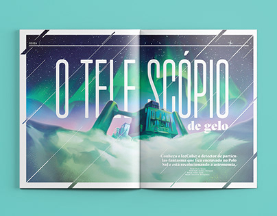 [Design editorial] O Telescópio de Gelo
