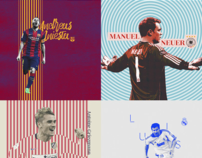 100 Day Project - Day 61–80 Footballers X Graphic