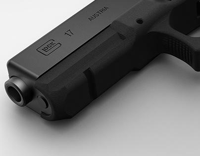 Glock Pistol Rendering