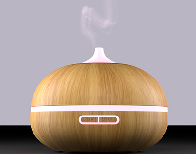 Electric aroma diffuser+Humidifier // 3D Visualization