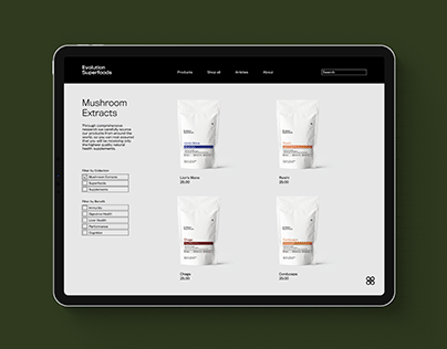Evolution Superfoods: Brand Identity and Packaging