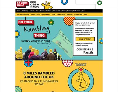 BBC Children in Need 2017 Ramble