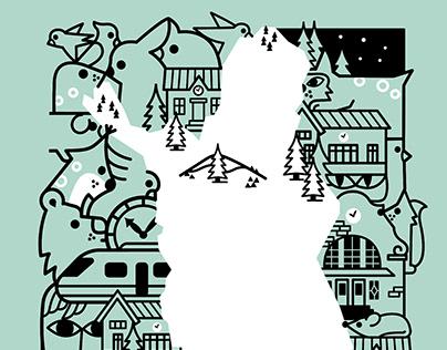 Animated map illustration