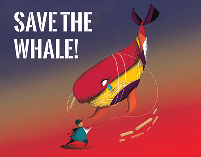 Environmental Poster,《Save The Whale》