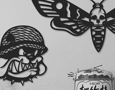 Black Lining Wall Art