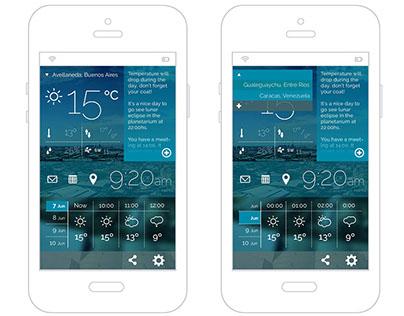 UI Design Prototype for weather mobile app