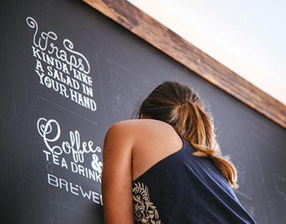Laney & Lu Cafe chalk lettering