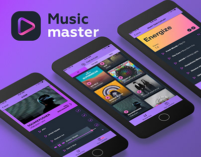 Music app UX/UI concept