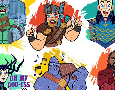 Thor: Ragnarok Facebook Stickers
