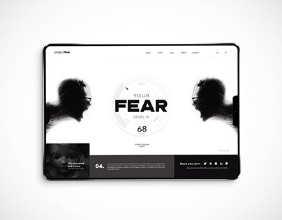 Fear home page design concept