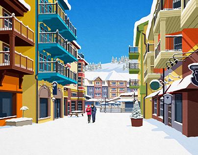 Blue Mountain ski poster