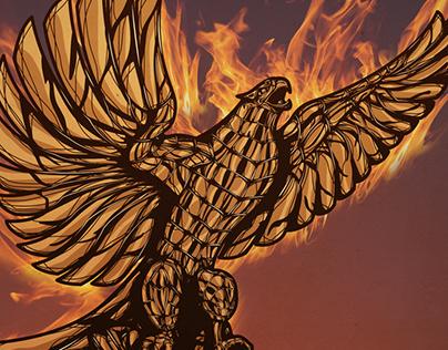 Phoenix Statue Illustration
