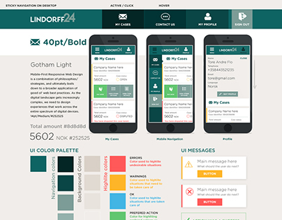 Lindorff24 - Service branding and UI design