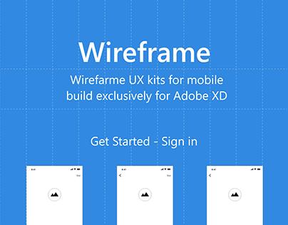 Free Music App Wireframe UX Kit - Adobe XD download