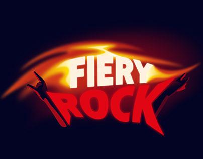 Fiery rock