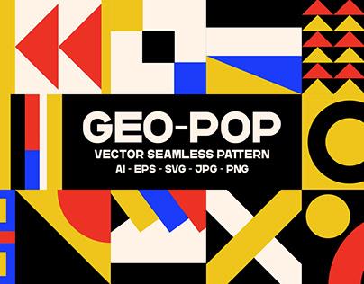 Geo-Pop - Seamless Pattern Vector