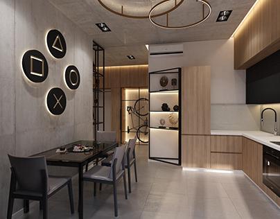 """Дизайн апартаментов в стиле """"Loft"""""""