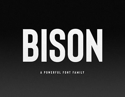Bison Font Family (Free download)